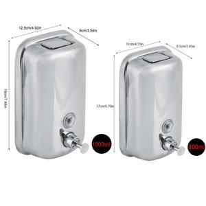 Image 5 - 800/1000mL Stainless Steel Soap Dispenser Wall Mounted Liquid Shampoo Lotion Container Kitchen Bathroom Hand Sanitizer