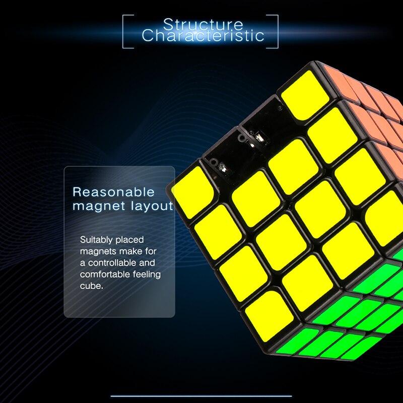 Moyu Aosu GTS2 M 4x4x4 SpeedCube magnétique 4 couches 6.2 cm Aosu GTS 2 M Cube magique professionnel jouets pour enfants WCA compétition - 2