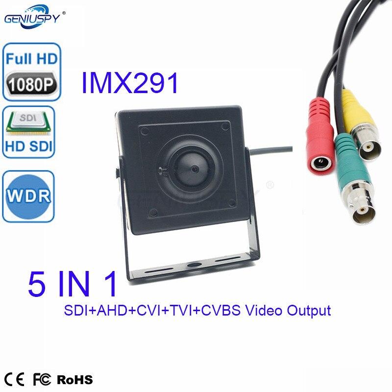 Cheap 1080P Low Lux WDR IMX291CMOS Sensor SDI+AHD+TVI+CVI+CVBS  5 IN 1 HD SDI Cctv Mini SDI Camera For Bank&Industry EquipmentCheap 1080P Low Lux WDR IMX291CMOS Sensor SDI+AHD+TVI+CVI+CVBS  5 IN 1 HD SDI Cctv Mini SDI Camera For Bank&Industry Equipment