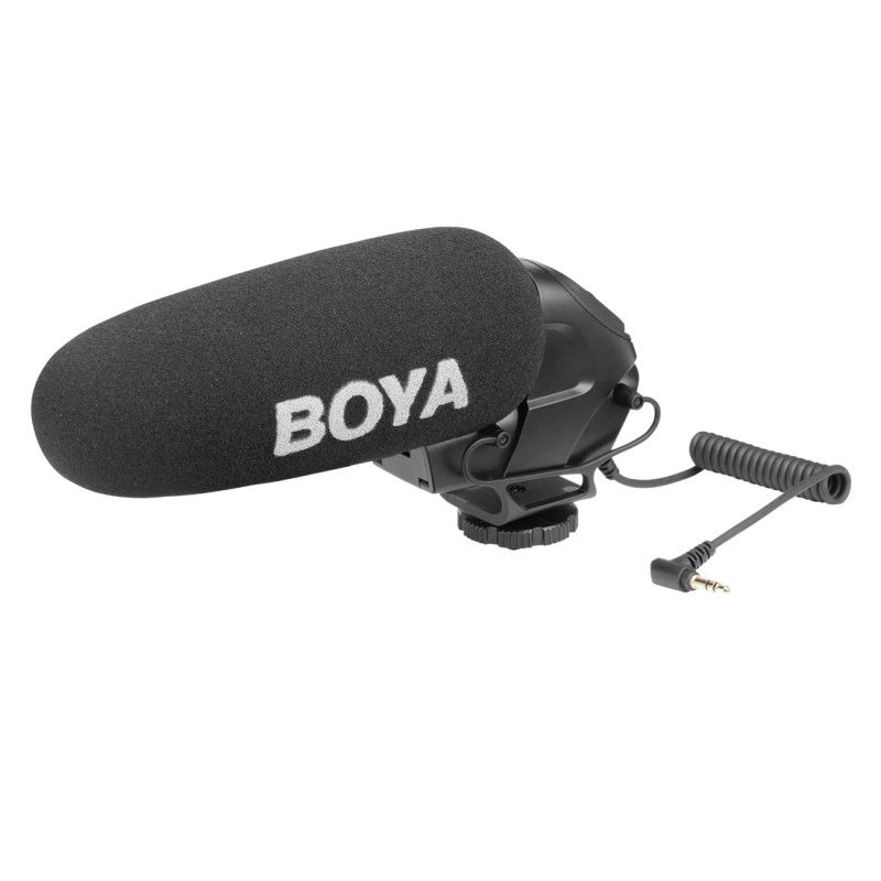 Boya By-Bm3030 Broadcast Microphone With Windshield For Canon Nikon Sony DslrBoya By-Bm3030 Broadcast Microphone With Windshield For Canon Nikon Sony Dslr