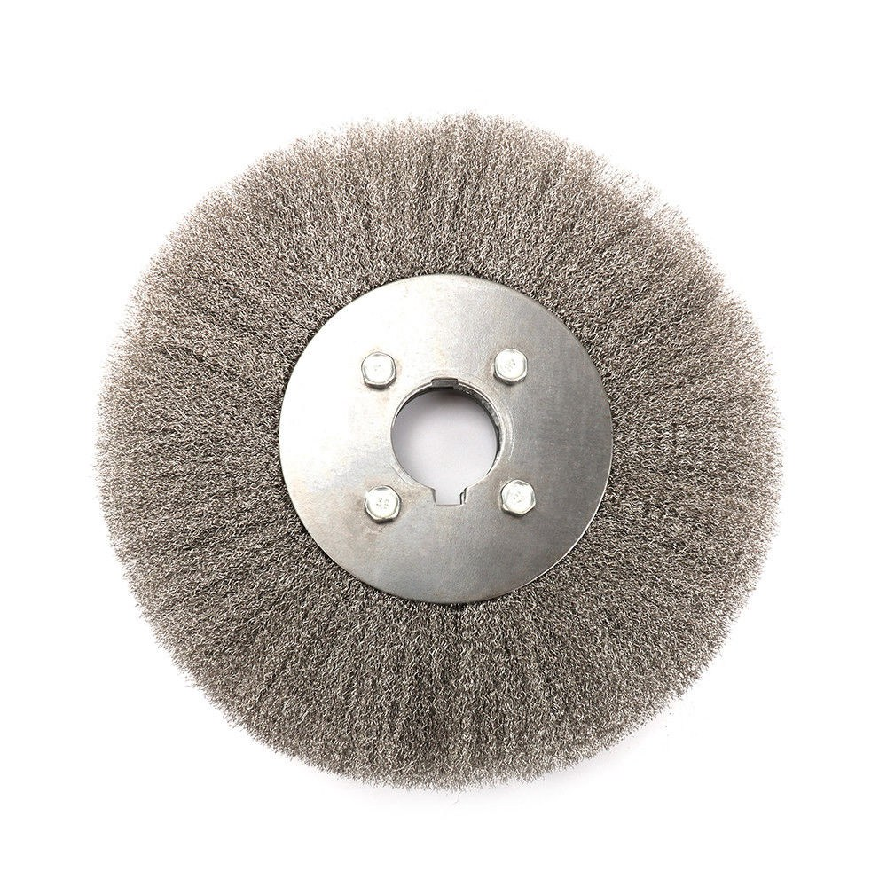 Hot Sale 250 X 32mm Stainless Steel Wire Flat Stainless Steel Wire Wheel Flat Wire Brush Wood Polishing Head Tool Accessories