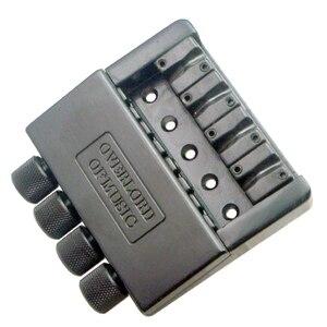 Image 5 - Zwart 4 String Bass Staartstuk Brug Systeem Zadel Headless Elektrische Bas Onderdelen Accessoire