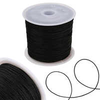 Chinese Knot Cord 0.8mm Thread Nylon Cord Soft Macrame Rattail Bracelet Braided String DIY Beading Tassels Decorative Rope