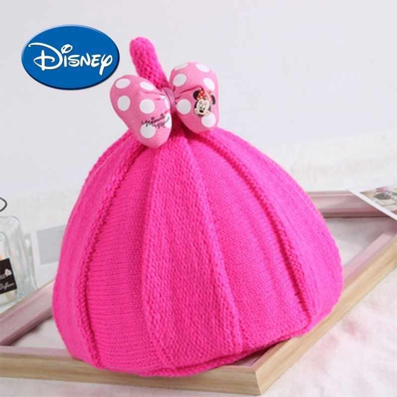 e8aed75a3828c Disney Kids Minnie Hat Stars Earmuffs Wool Hats Set Head Cap Boy And Girl  Tide Baby