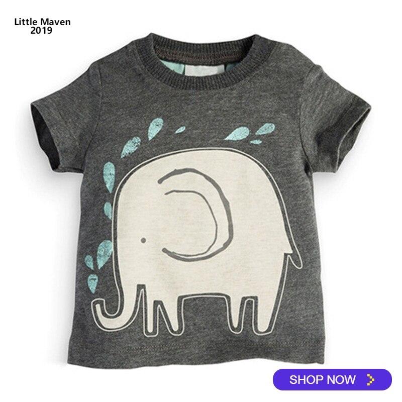 Shirt Little Maven Tops Short-Sleeve Girls Baby Boys Kids Cotton Summer Brand Top-Quality