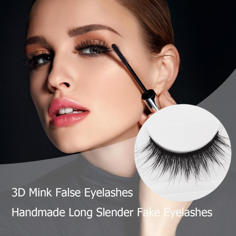 Frank 5pairs 3d Mink False Eyelashes Handmade Long Slender Fake Eyelashes False Eyewinker Parties Cosmetic Beauty Makeup Tool Kit Beauty Essentials False Eyelashes