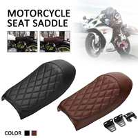 Universal Motorcycle Seat Cushions Cafe Racer Flat Brat Seat Hump Saddle for Honda for Yamaha for Suzuki