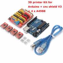 3D printer Kit for Arduino CNC Shield V3+UNO R3+A4988*4 GRBL Compatible Durable Quality(China)