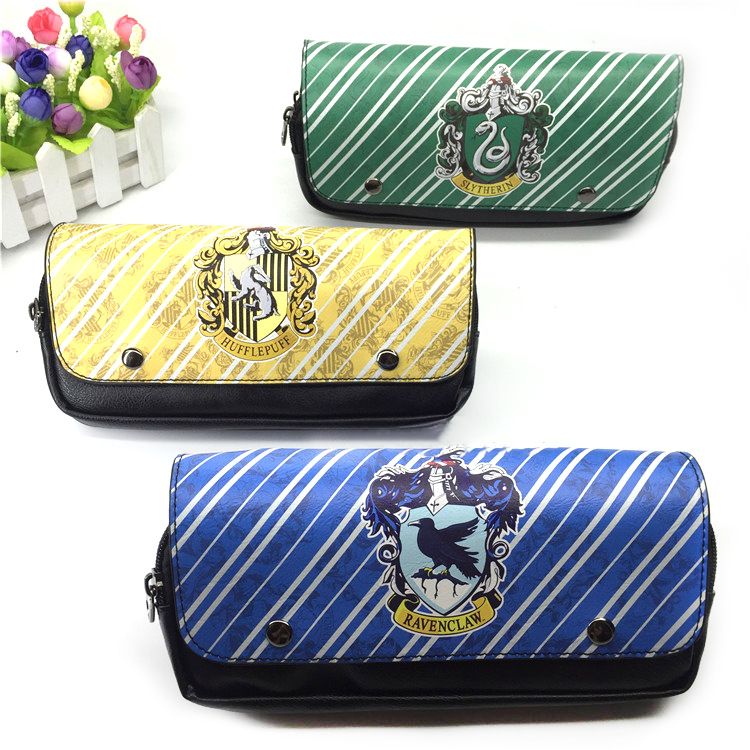 Film Harry Hogwarts College Ravenclaw Large Capacity Double Pencil Bag Slytherin Stationery Pencil Case Gift Gudetama