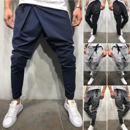 Trousers Joggers Irregular-Pants Long-Sweatpants Gym Casual New Solid Slim Running Men