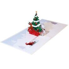 JIELISI 3D Pop Up deer Handmade Custom Greeting Cards Gifts Souvenirs Postcards