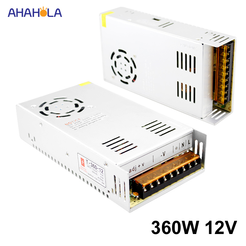 AC 220v to 12v Power Supply 30a 360w Unit Switching Power Supply 12v 30a 360w Led Driver Source Power Supply 12 v SmpsAC 220v to 12v Power Supply 30a 360w Unit Switching Power Supply 12v 30a 360w Led Driver Source Power Supply 12 v Smps
