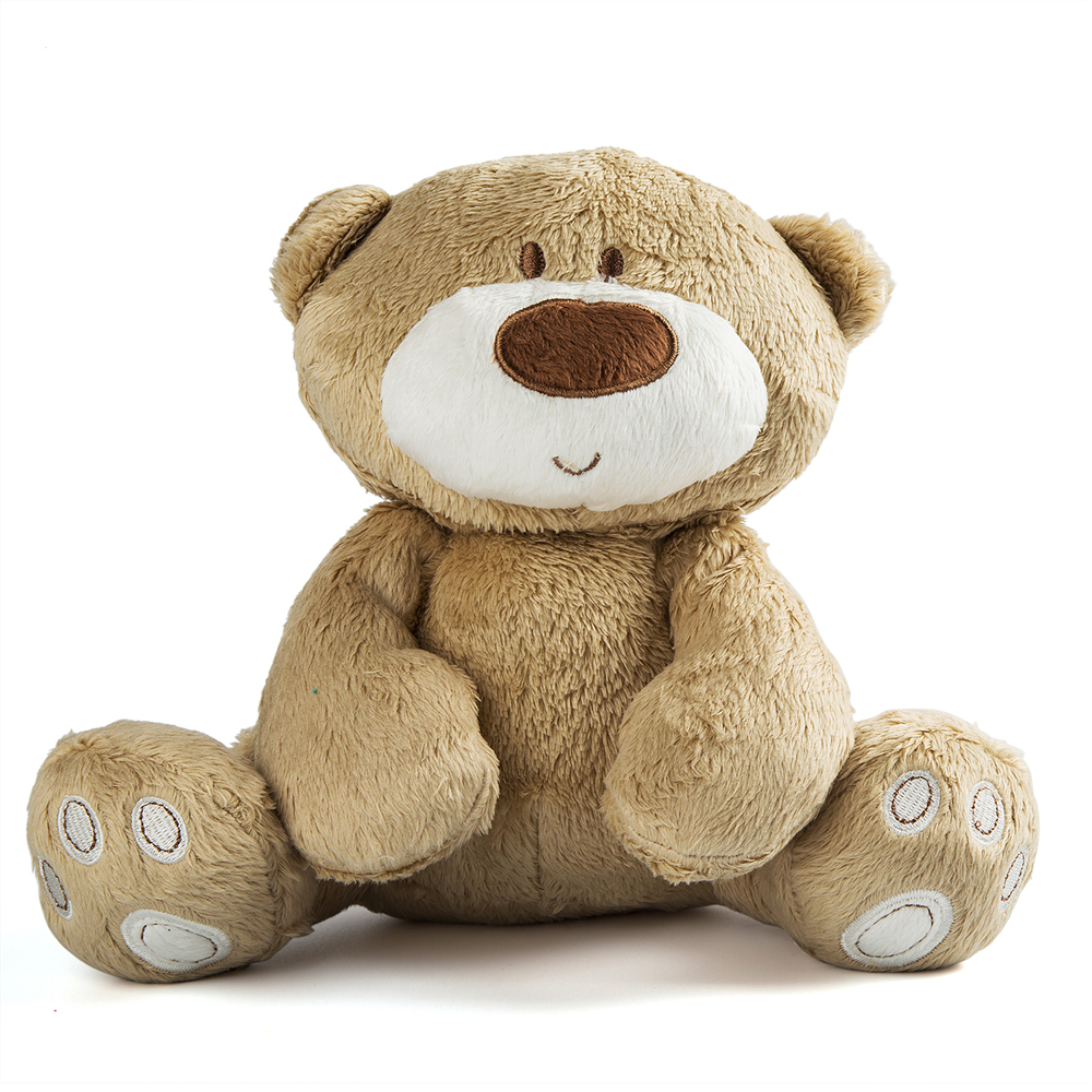 21cm Baby Toy Cute Teddy Bear Plush Doll Baby Infant Toys  Rattle Early Educational Toy 1Y+