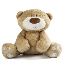 21cm Baby Toy Cute Teddy Bear Plush Doll Baby Infant toys Rattle Early Educational Toy 1Y+(China)