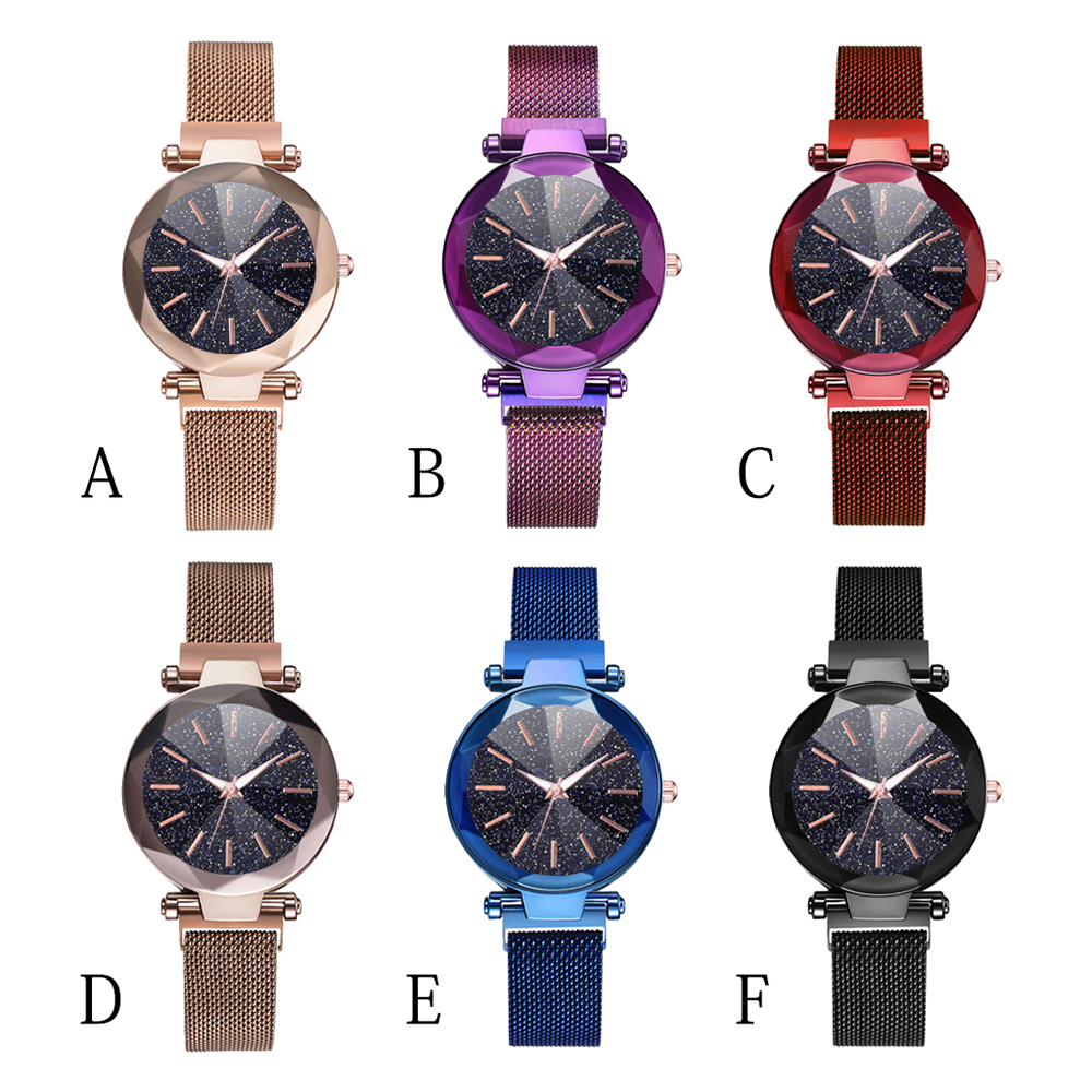 Quartz Watches Clock Starry Ladies New Fashion Girl Casual Lovers