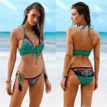 Pushup Padded Bandage Bikini Set  Leopard Print Bikinis 2019 New Hot Women Sexy Swimwear Low Waist Bathing Suit  Straps Swimsuit adjustable straps leopard bikini set