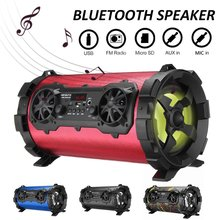 Wireless bluetooth Speaker Stereo Bass Portable HIFI Speaker Subwoofer AUX USB TF Card FM Radio Outdoor Bike Car Karaoke Player(China)