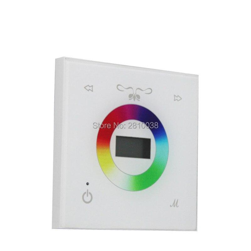2 pcs/lot panneau d'affichage led rgbw contrôleur plein couleurs rgbw led de contrôle panneau tactile rgbw lampe à led contrôleur pour ampoules led