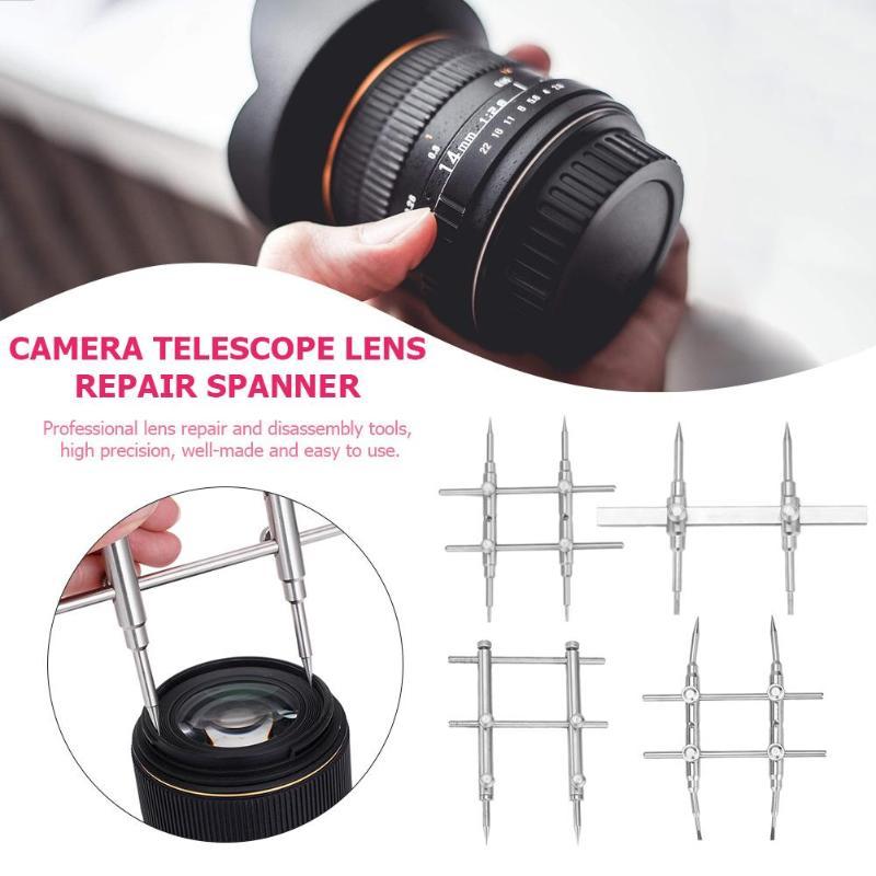 Camera Lens Openning Repairing Tool Kit 10-100mm Telescope Lens Repair Spanner Disassemble Wrench Open Tool Set