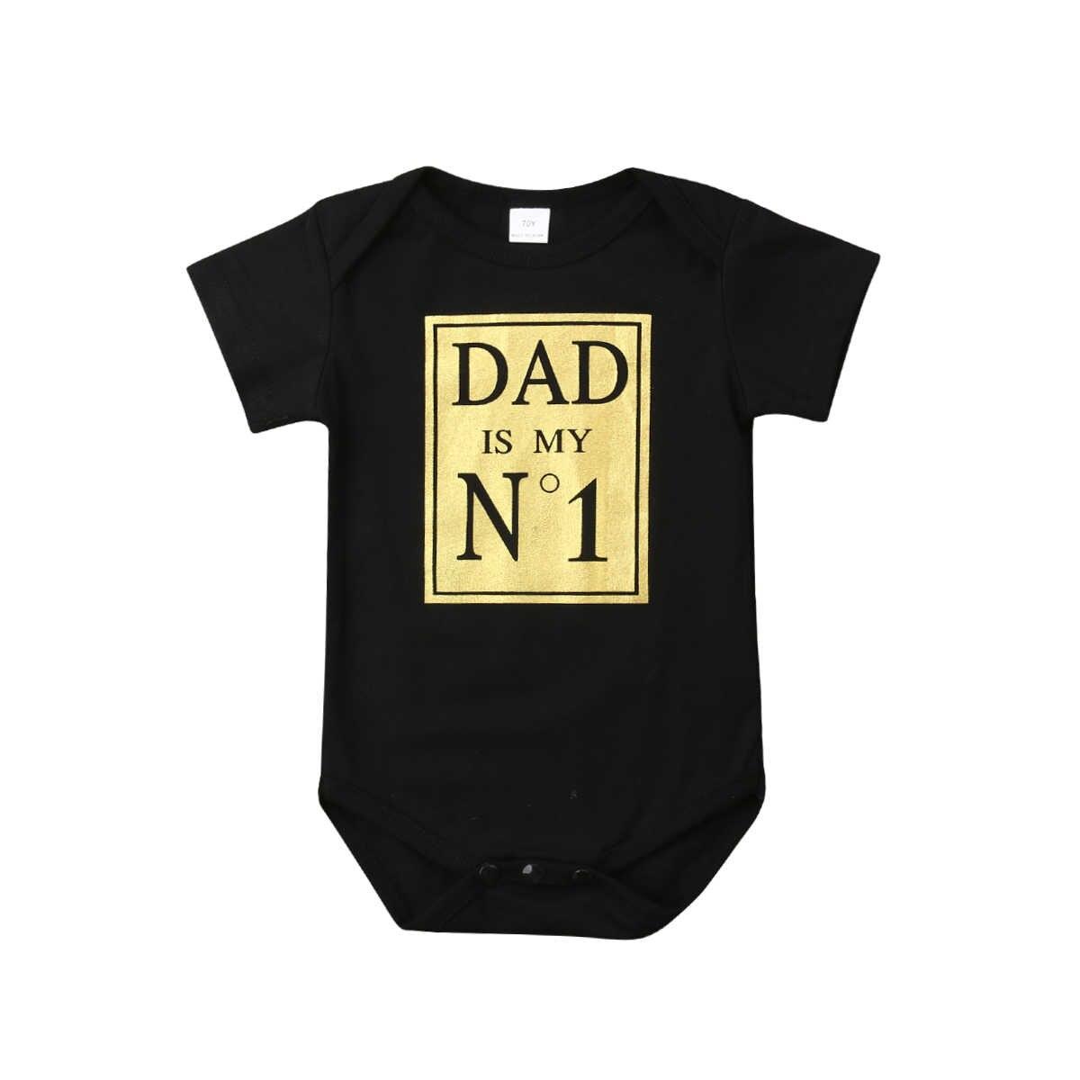 2019 Летний комбинезон с короткими рукавами для маленьких мальчиков и девочек, для папы, № 1, черный, повседневная одежда