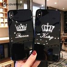 Lovebay силиконовый чехол для iPhone 7 чехол для телефона Crown для iPhone 11 Pro 6 6s 7 8 Plus X XR XS Max мягкая задняя крышка из ТПУ с надписью King queen