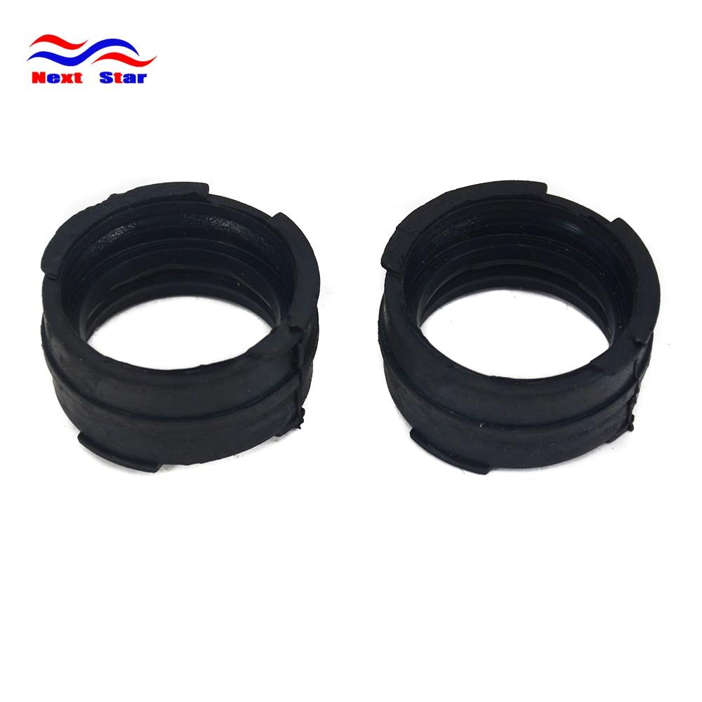 Motorcycle Black 2pcs Glue Pipe Connector Carburetor Interface For HONDA VTR250 VT250 Magna25 VTZ250 VTR VT VTZ 250 1998-2007(China)
