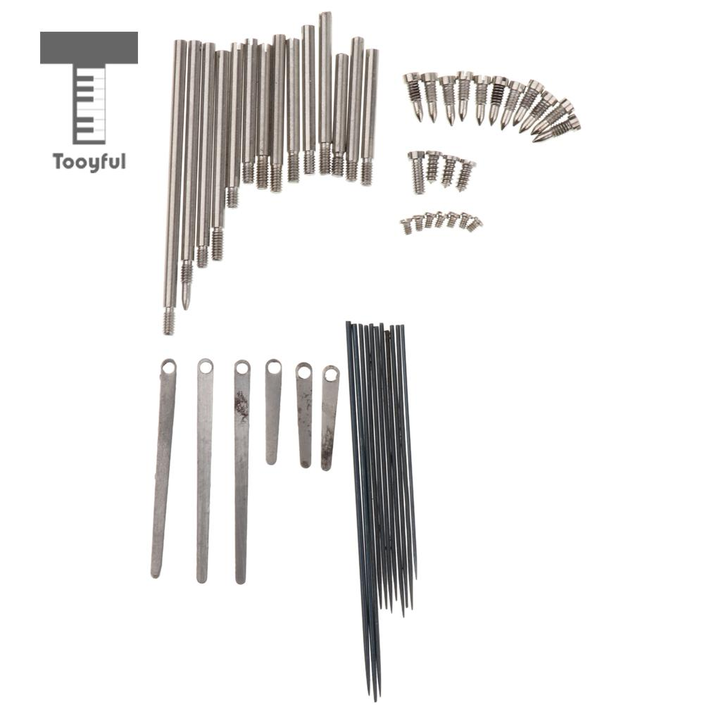 Tooyful 1 Set Clarinet Repair Tool Kit Steel Spring Leaf Key Rollers Screws Reed Needle Woodwind Parts