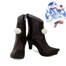 LOL League Of Legends De Fae Tovenares Lulu Huid Cosplay Schoenen Vrouwen Laarzen(China)