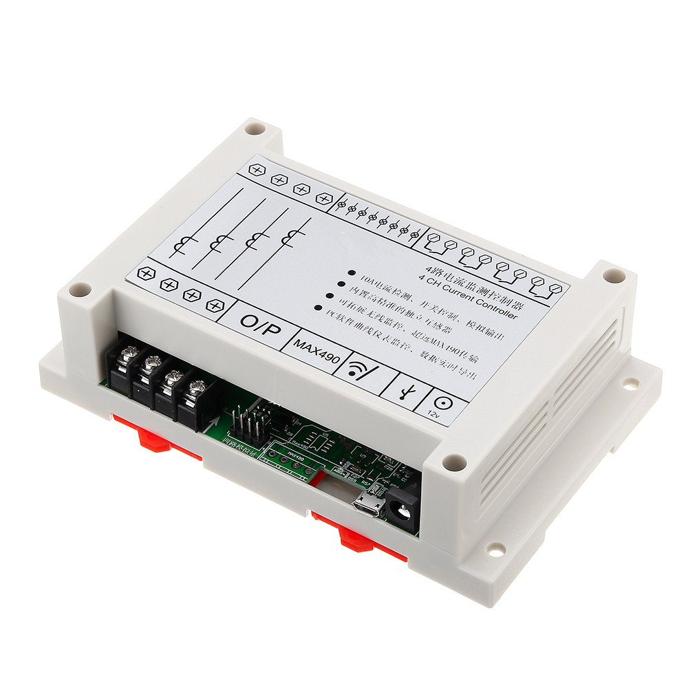 NEW 4 Channel 4CH Current Controller Switch Control Monitoring Relay Module For ArduinoNEW 4 Channel 4CH Current Controller Switch Control Monitoring Relay Module For Arduino