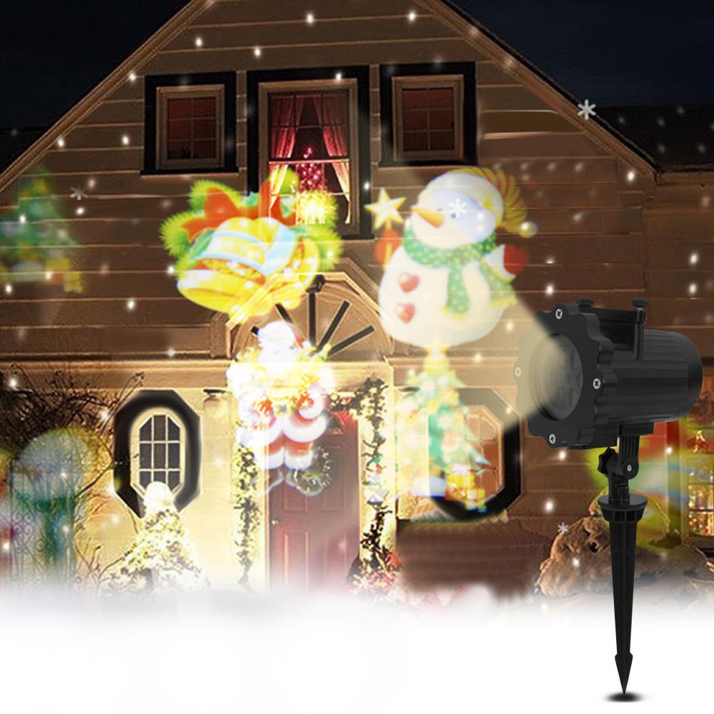 12 Patterns Mery Christmas Lights Outdoor Led Snowflake Projector Light Lawn Lamp Ip65 Waterproof Lasers Halloween Decoration12 Patterns Mery Christmas Lights Outdoor Led Snowflake Projector Light Lawn Lamp Ip65 Waterproof Lasers Halloween Decoration