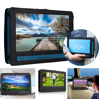 Portable 9.8 inch DVD Player Digital Car Rechargeable Player With Game FM Radio TV AV Monitor Card Reader with Tablet Holder