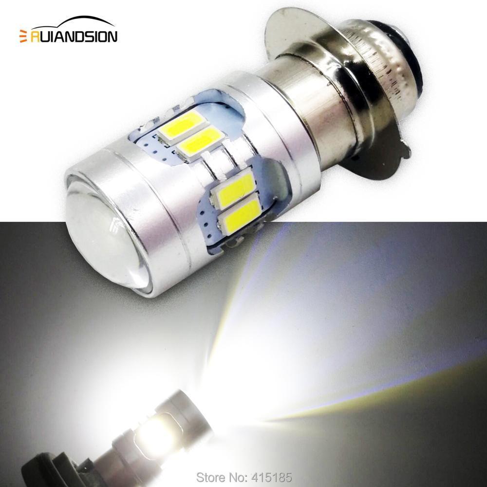 H6 phare LED H6M P15D moto utilisation 5-24V 500LM feux de croisement moto phare antibrouillard ampoule 2 pièces Super lumineux