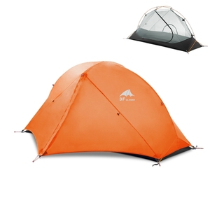 Image 5 - 3F UL Gear Camping Tent Single Person Double Layer 15D/210T Hiking Tent Waterproof 3 Season 4 Season Outdoor With Mat