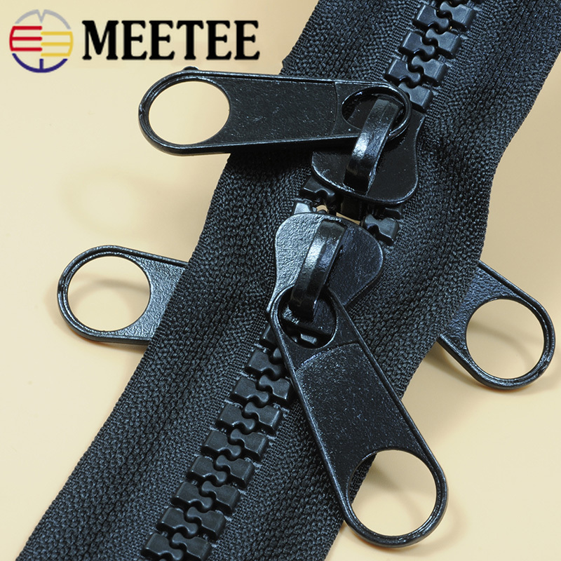 Meetee 10# Resin Zipper+single/double-sided Pull Head Open-end for Outdoor Travel Tent Backpack DIY Sewing Accessories AP671