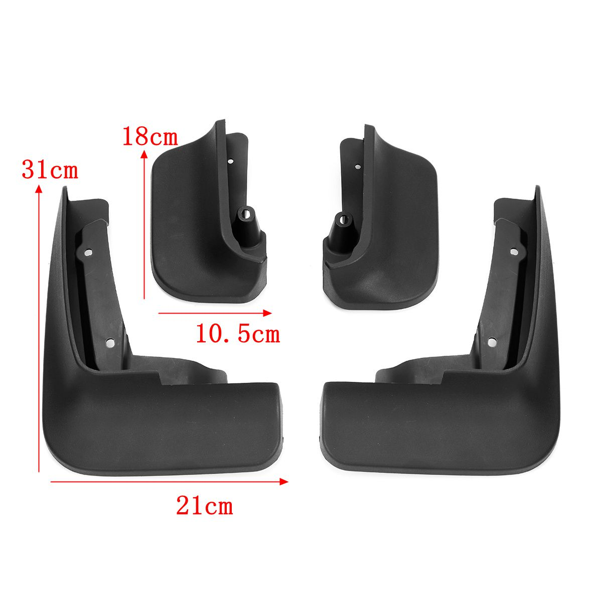 Image 5 - Car Mud Flaps Splash Guards for Fender Mudflaps Mudguards For VW Transporter T6 Caravelle 2016 2017 2018 Mulivan 2017 2018-in Mudguards from Automobiles & Motorcycles