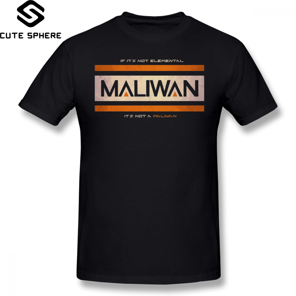 Borderlands T Shirt IF IT S NOT ELEMENTAL A MALIWAN T-Shirt 100 Percent Cotton Graphic Tee Plus size Fun Tshirt