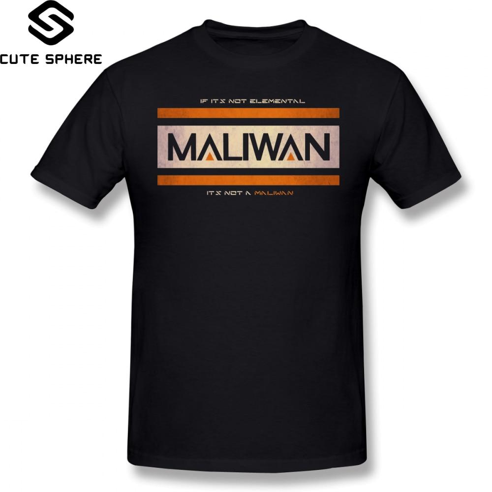 Borderlands T Shirt IF IT S NOT ELEMENTAL A MALIWAN T-Shirt 100 Percent Cotton Graphic Tee Plus size Fun Tshirt