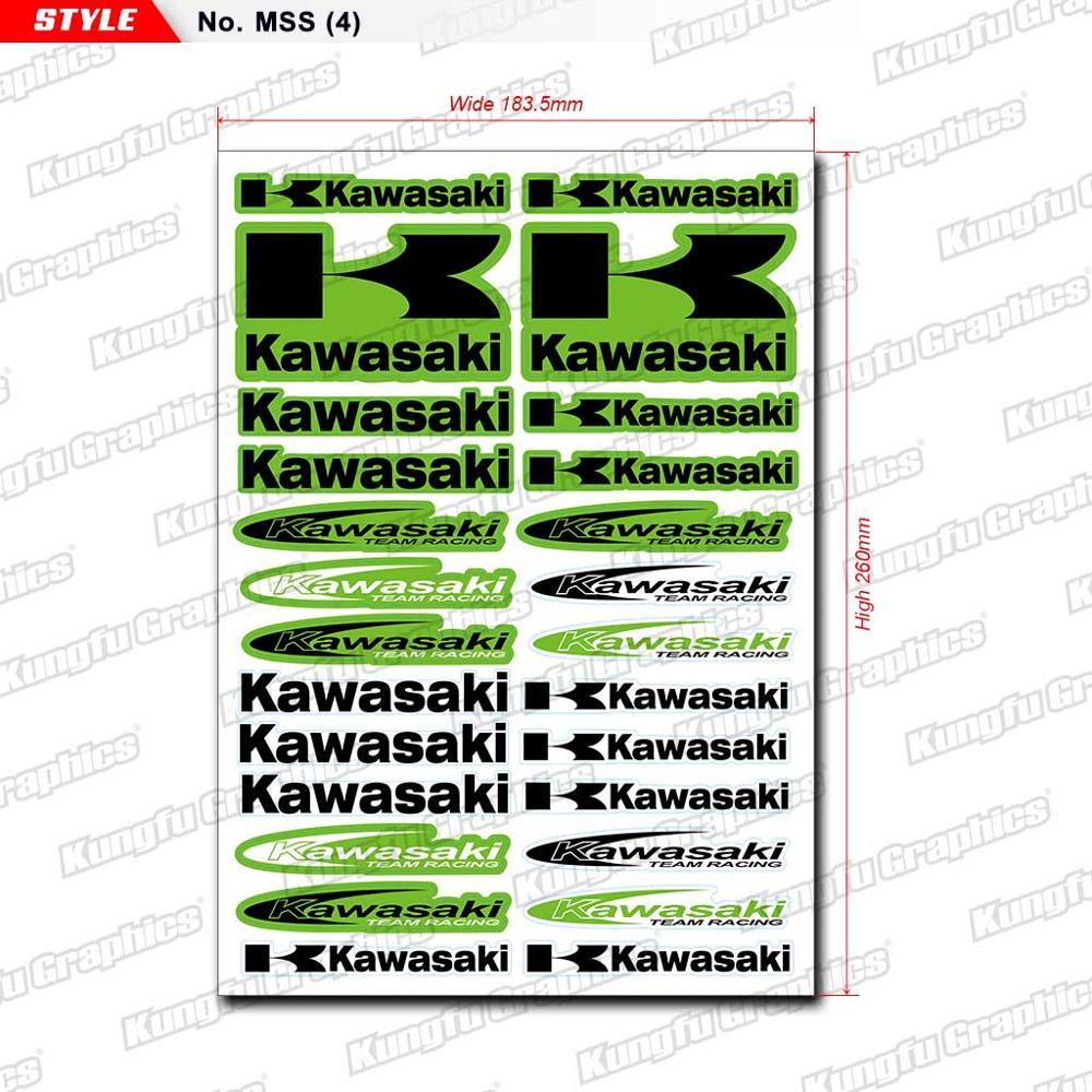 Labels Sticker Dirtbike Kungfu Graphics Motorcycle Kawasaki Sign Logo Watercraft Sponsor