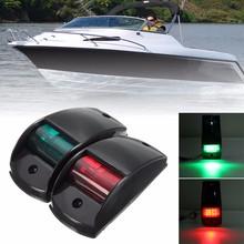 12 v DC Ampul Tipi Çift Touring Araba Navigasyon Işıkları Port/Sancak Siyah/Beyaz Konut Tekne Lambası