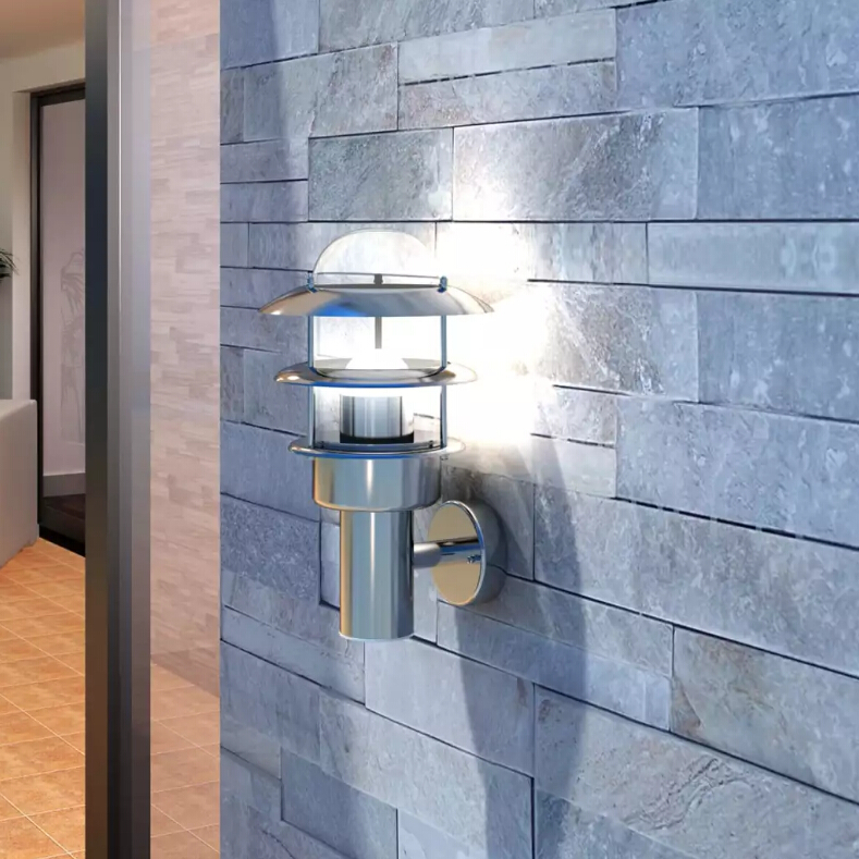 Patio Wall Light Lamp rust resistant waterproof Stainless Steel wall light for porches, patio areas, gardensPatio Wall Light Lamp rust resistant waterproof Stainless Steel wall light for porches, patio areas, gardens