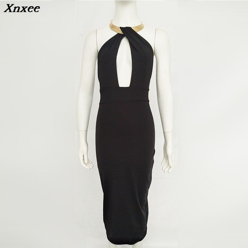 Xnxee black backless bodycon dress clothing vestidos mujer online shop clothing fashionable dresses woman clothes sukienka 2019 in Dresses from Women 39 s Clothing