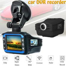 2 In 1 Multifunctional Car DVR Recorder With Full Frequency 2.0 Inch LCD Screen Driving Recorder Ultra Wide Angle Lens Black
