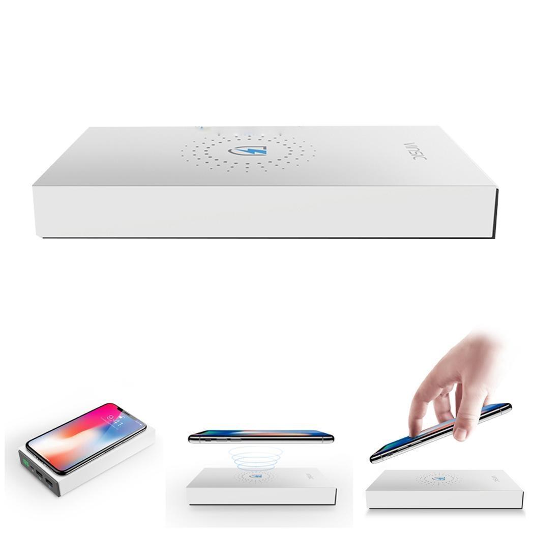 20000 mAh batterie externe batterie externe sans fil avec chargeur sans fil Double USB Portable QI chargeur sans fil standard li-polymère pâte