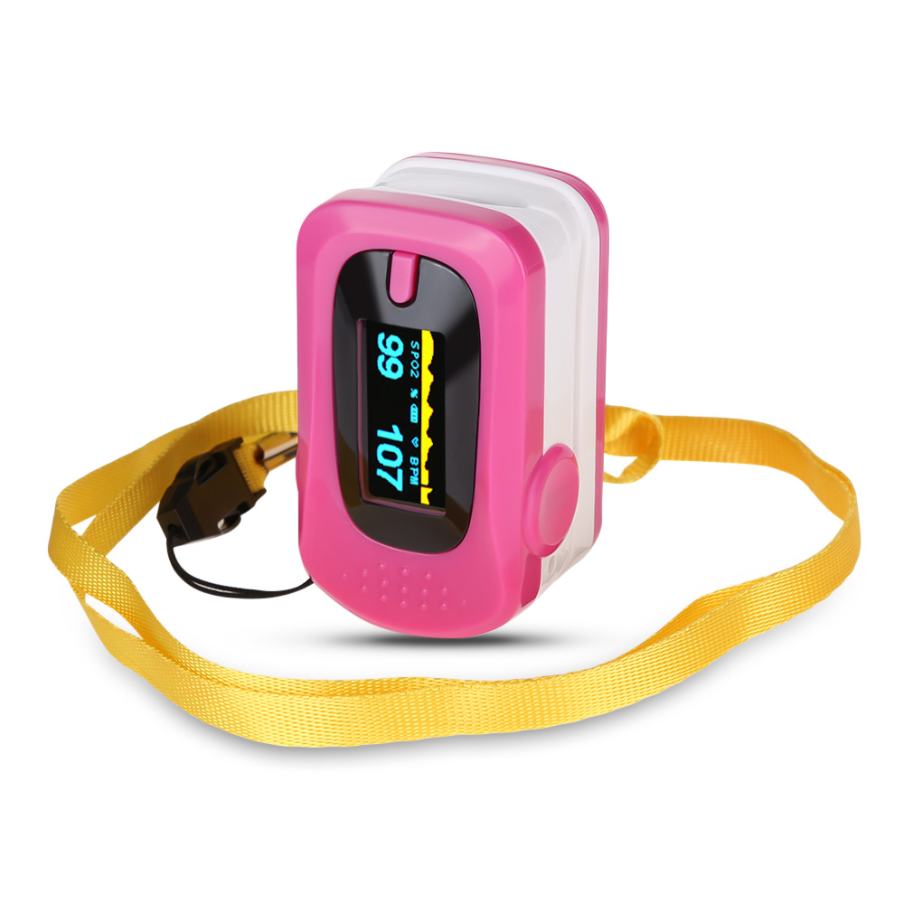 Portable OLED Fingertip Pulse Oximeter SpO2 Saturation Meter IPX4 Waterfroof Health Care Tool Adjustable 4 Direction Of Display