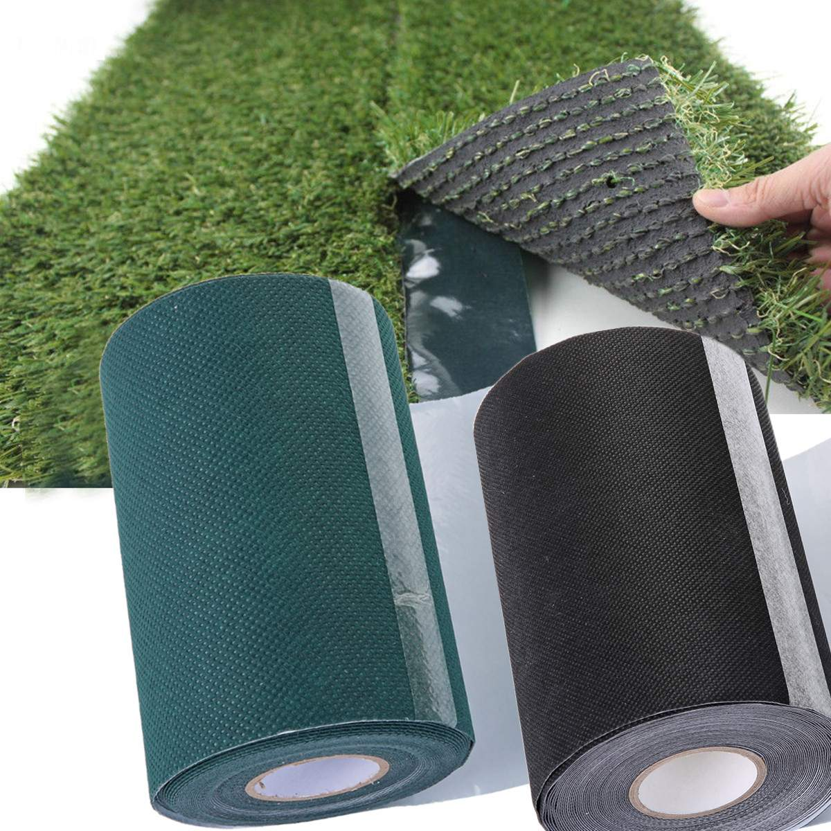 10mx15cm Large DIY Artificial Grass Jointing Self Adhesive Tape Synthetic Grass Turf Lawn Carpet Seaming Tape Green Home Decor