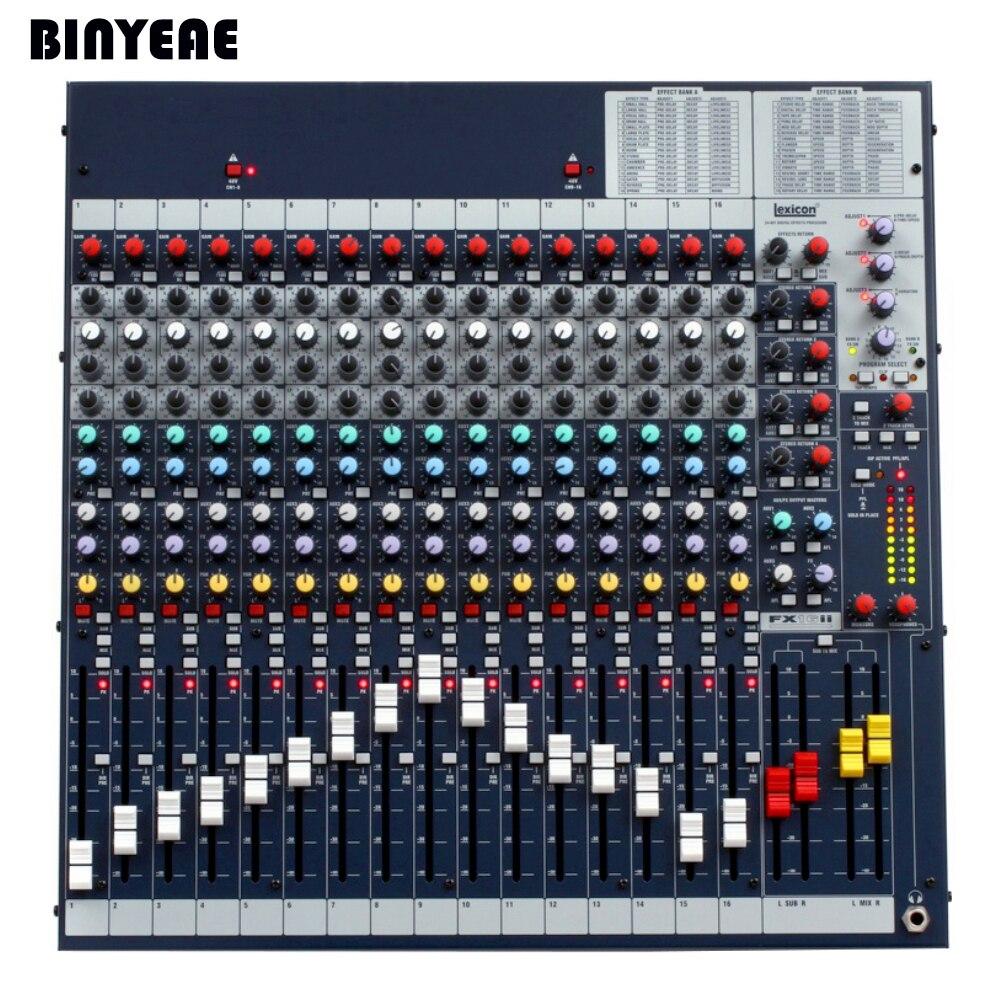 16 channels professional sound mixer console mixing board mezcladora de dj fx16ii in karaoke. Black Bedroom Furniture Sets. Home Design Ideas