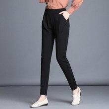 Plus Size Women Spring Autumn Pencil Pants Casual Elastic Female Black Trousers High Waist For Women Pantalon Mujer цены