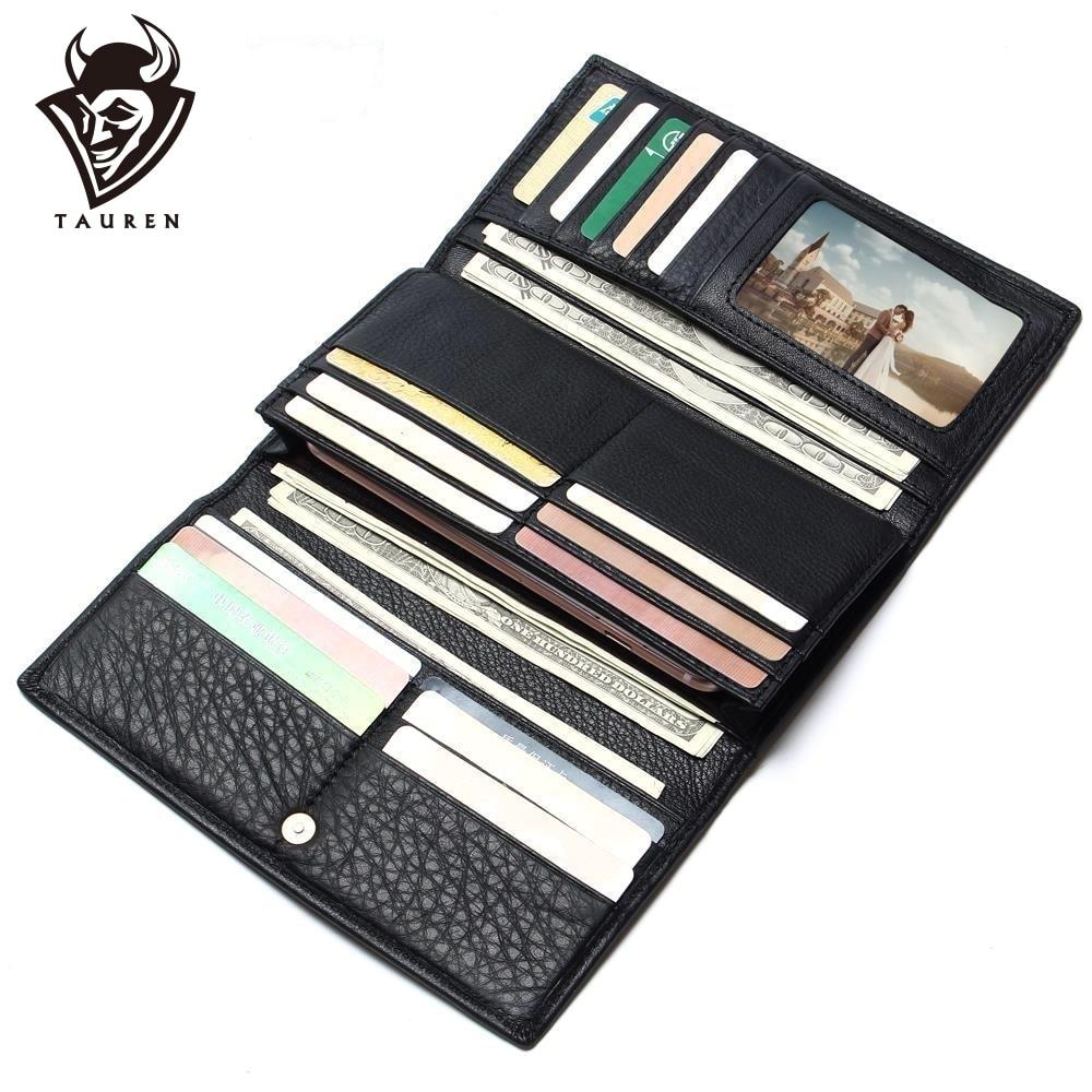 2019 Férfi Kína gyártó pénztárca 100% valódi bőr fekete szín üzleti embernek Vintage pénztárca Férfi bőr