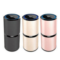 3 Colors Auto Car Air Purifier 5 Million Negative Ions Air Cleaner PM2.5 Odors Eliminator Car Fresh Air Anion Ionic Purifier