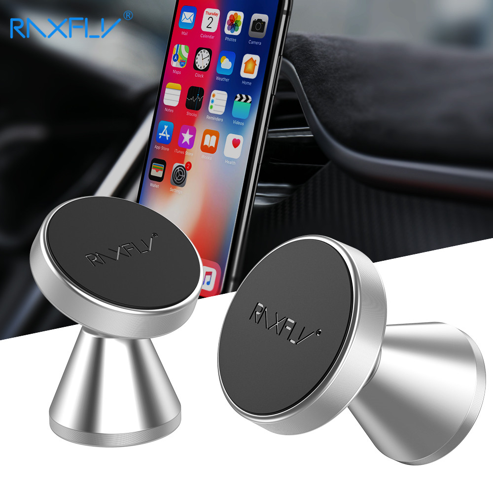 RAXFLY Magnetic Car 360 Degree Rotation Universal Phone Holder Stand For iPhone X MAX 8 7 Car Phone Holder Stands For Samsung in Phone Holders Stands from Cellphones Telecommunications